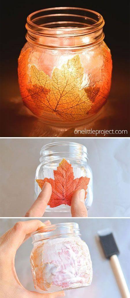 An Autumn Luminary - Mason Jar Craft Ideas