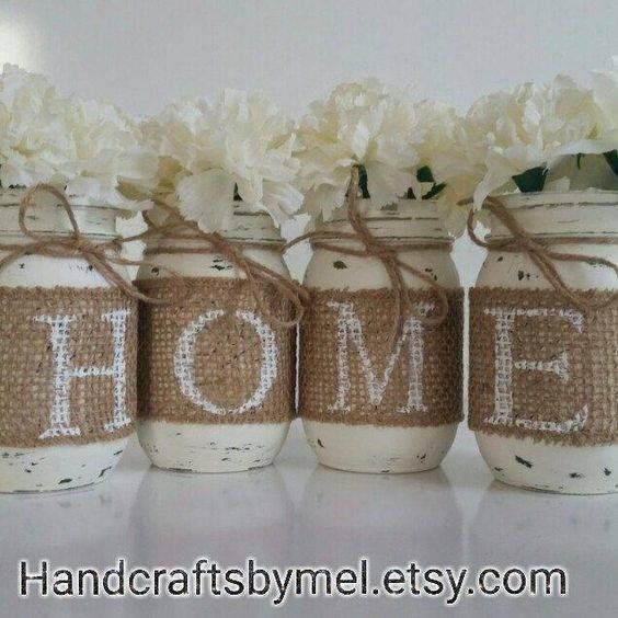 Rustic Vases - Mason Jar Decoration Ideas