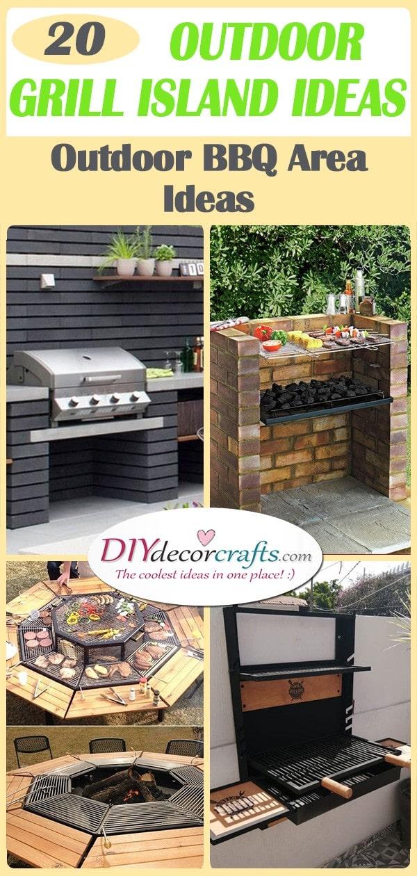 20 OUTDOOR GRILL ISLAND IDEAS - Outdoor BBQ Area Ideas