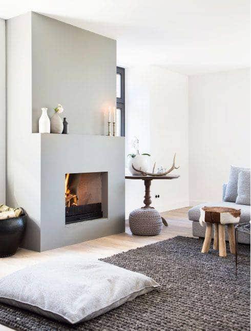 Bold yet Simplistic - Minimalist Fireplace Design Ideas
