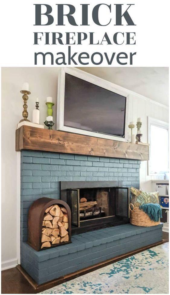 Beautiful in Brick - Painted Brick Fireplace Ideas