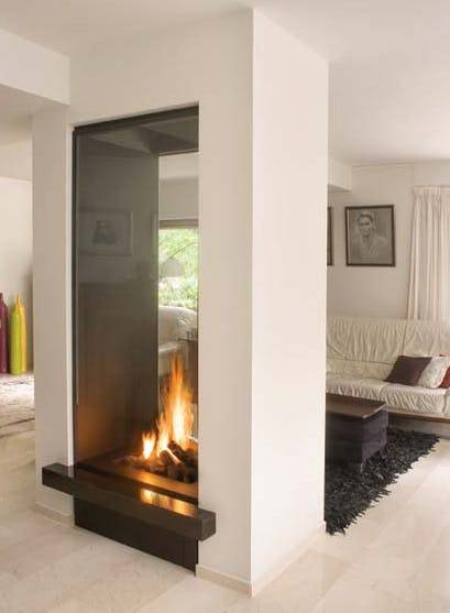 A Double Sided Fireplace - Seeing Through the Sides