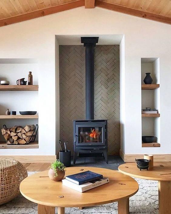 A Log Burner Fireplace - Modern Fireplace Ideas