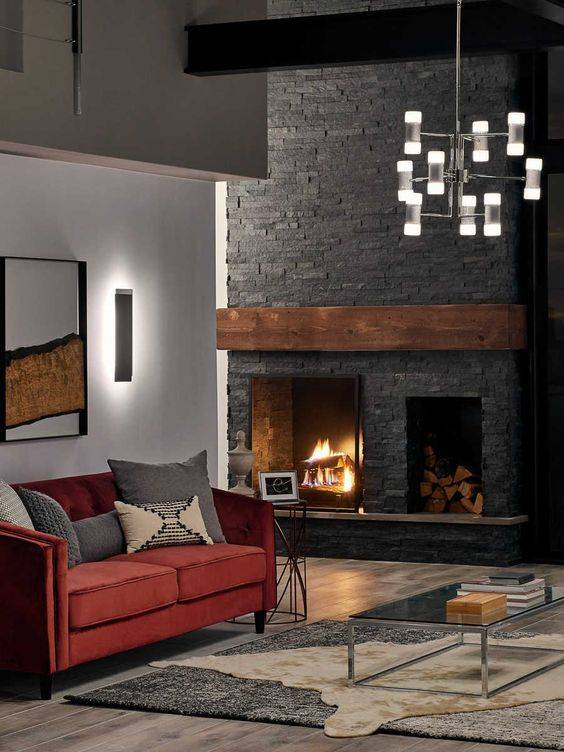Large and Majestic - Living Room Ideas with Fireplace