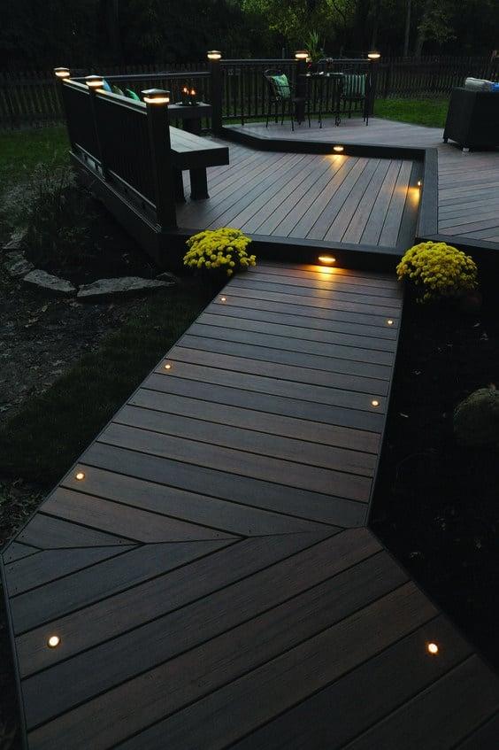 Create a Wooden Deck - Spot Outdoor Lighting Ideas