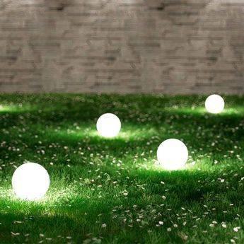 A Portable Ball Lamp - Backyard Lighting Ideas