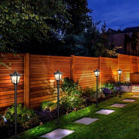 Lanterns Lighting the Way - Backyard Lighting Ideas