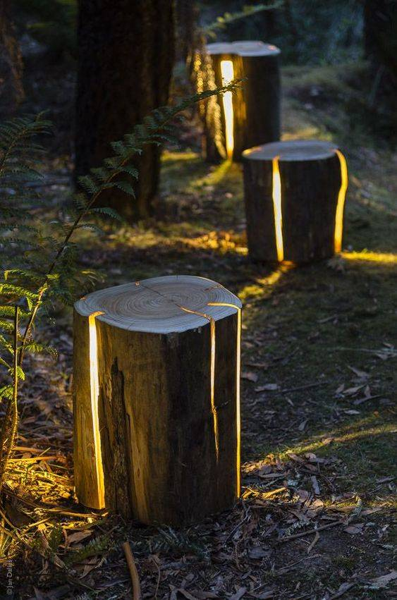 Natural and Unique - Enchanted Backyard Lighting Ideas