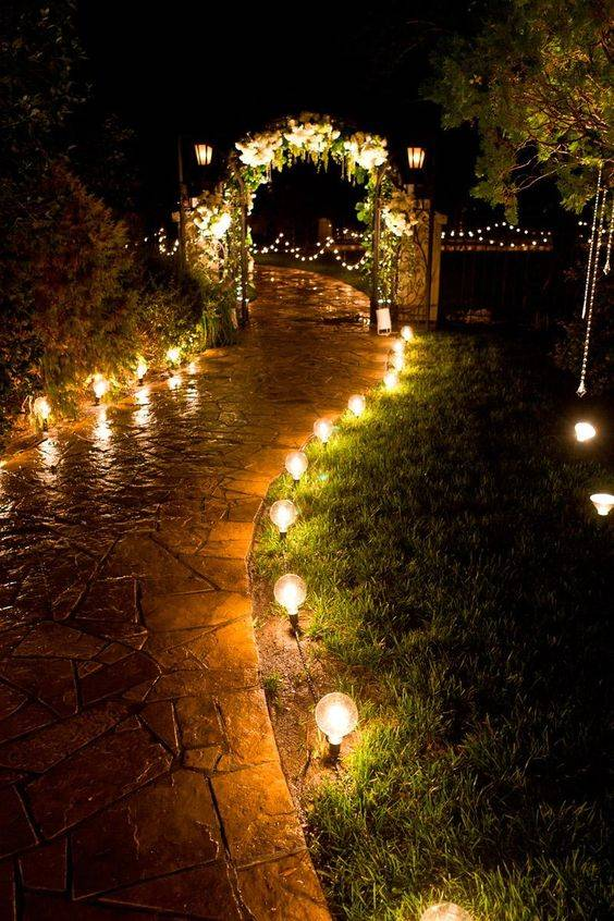 Romantic and Ethereal - Backyard Lighting Ideas