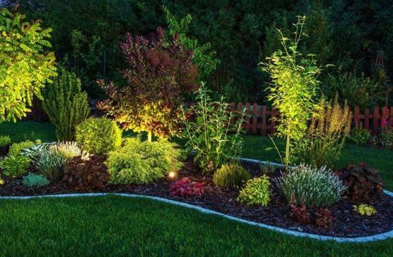 For a Flowerbed - Backyard Lighting Ideas