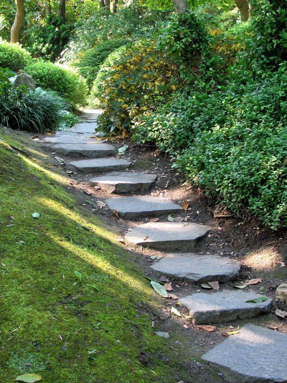 A Flight of Stairs - Easy Garden Path Stones