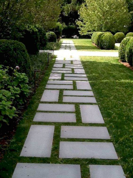 Lay Out a Pattern - Garden Walkway Ideas