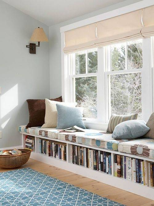 Underneath the Seats - Cute Bedroom Bookshelf Ideas