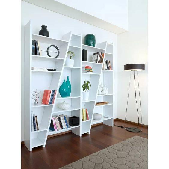 A Diagonal Design - State-of-the-Art Bookshelf Designs