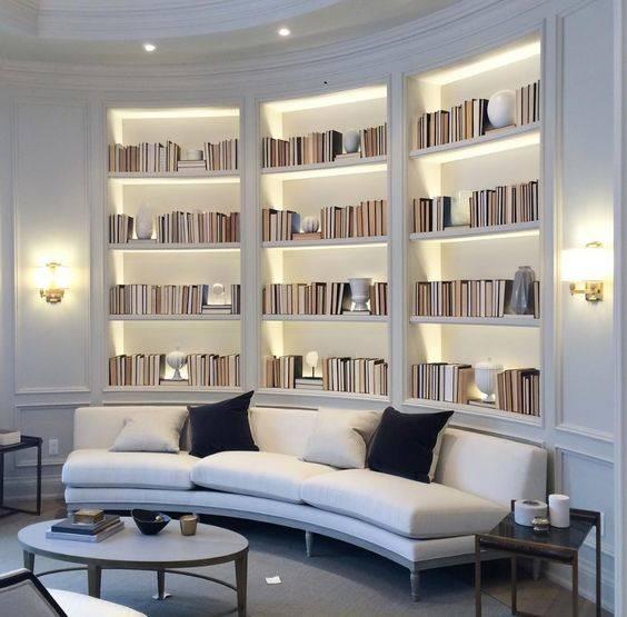 A Miniature Library - Built-In Bookshelf Designs