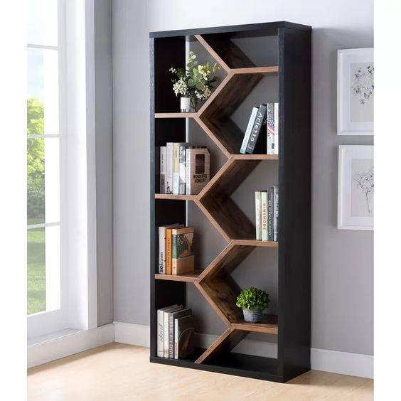 Geometric and Modern - Amazing Bookshelf Designs