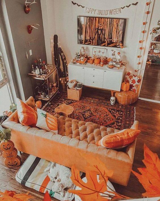 An Autumn Abundance - Fall Living Room Decor Ideas