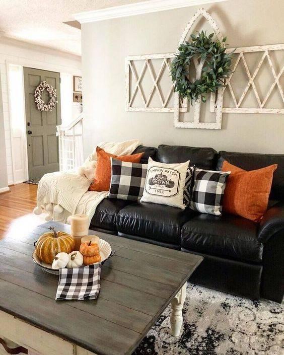 Autumn Colours - Fall Living Room Decor Ideas