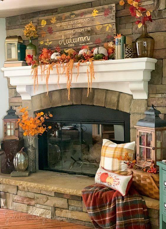 An Autumn Sign - Fall Living Room Decor Ideas