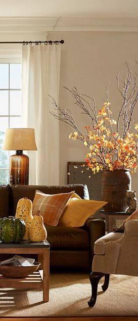 Unique Lanterns - Autumn Living Room Decor