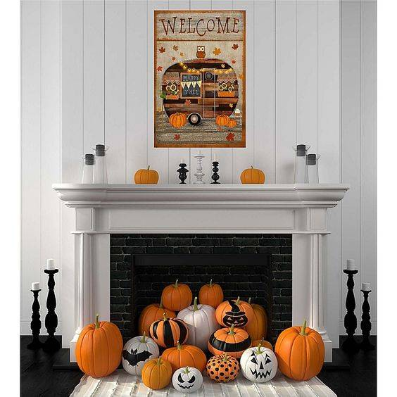Perfect for Halloween - Fall Living Room Decorations