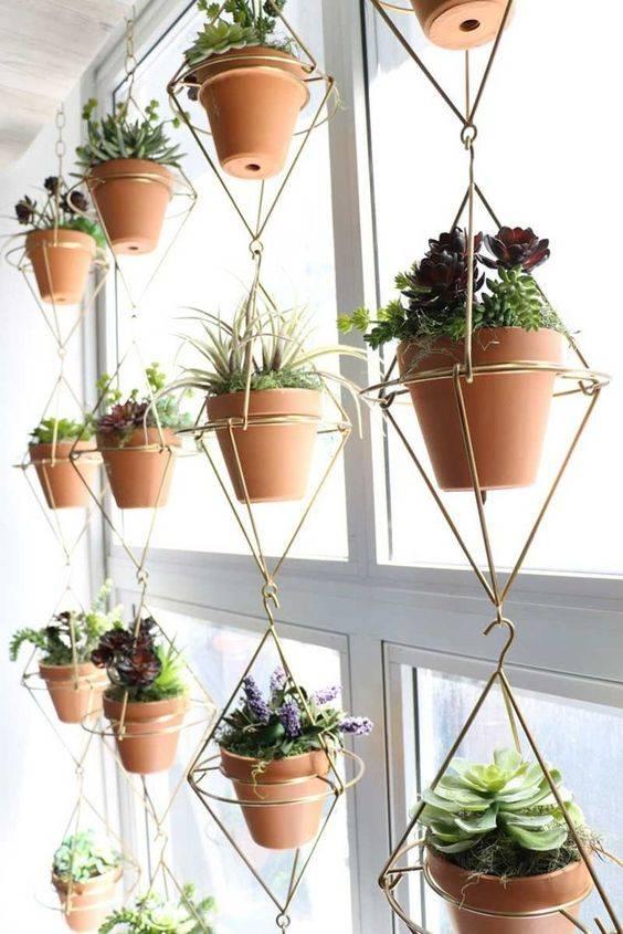 Geometric Metal Hangers - Best Indoor Herb Garden