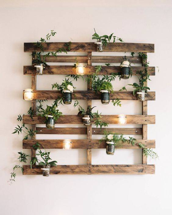 A Wooden Panel Planter - Decorative and Stunning