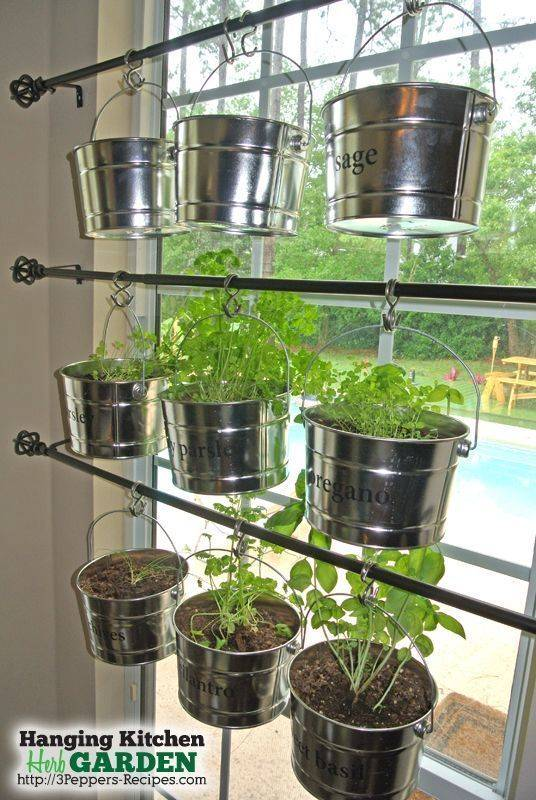 A Hanging Garden - Herb Planters for Kitchen