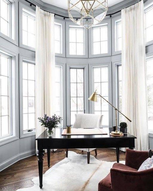 Open and Spacious - Home Office Interior Design Ideas