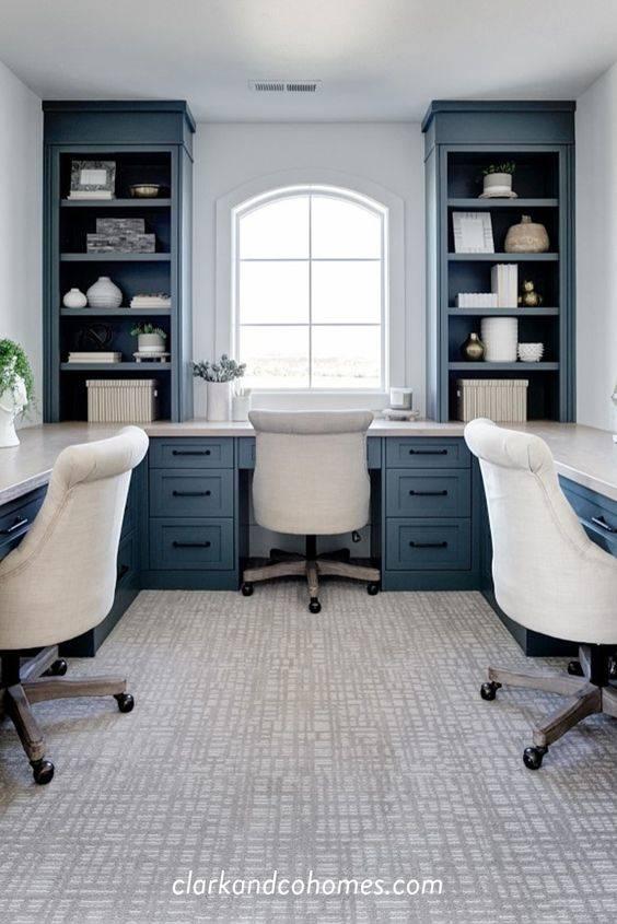 A Coastal Ambience - Home Office Interior Design Ideas
