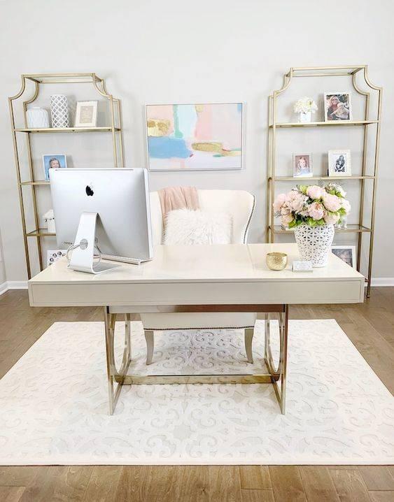Pretty in Pale Shades - Home Office Interior Design Ideas