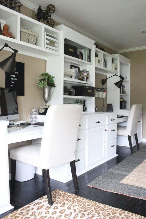 Connected Shelves and Desks - Modern Home Office Design