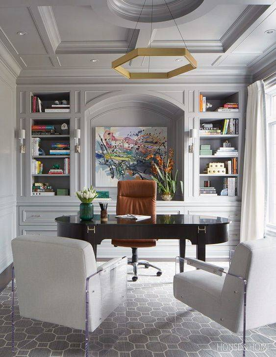 Refined and Creative - Home Office Interior Design Ideas