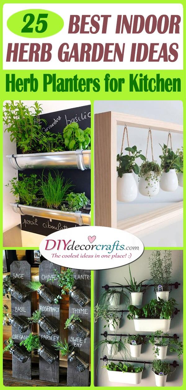 25 BEST INDOOR HERB GARDEN IDEAS - Herb Planters for Kitchen
