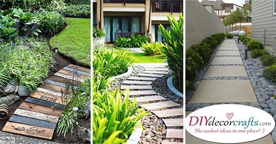 20 EASY GARDEN PATHS - Create a Garden Walkway