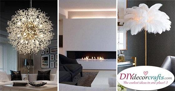20 MODERN LIVING ROOM LIGHTING IDEAS - Modern Chandeliers for Living Room