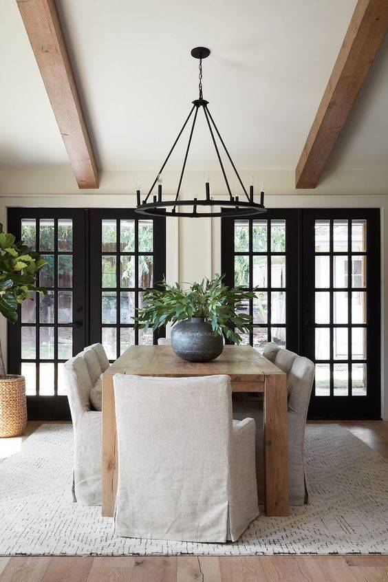 Bold in Black - Modern Dining Room Lighting Ideas