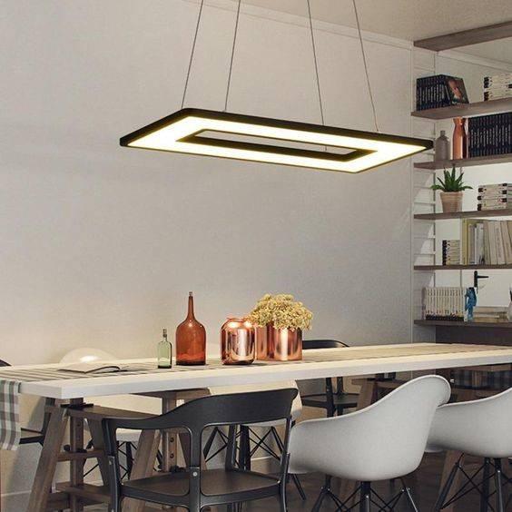 Shaped Like a Frame - Dining Room Lighting Fixture Ideas