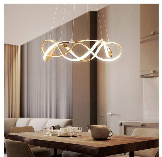 Swirling in Different Directions - Modern Dining Room Lighting