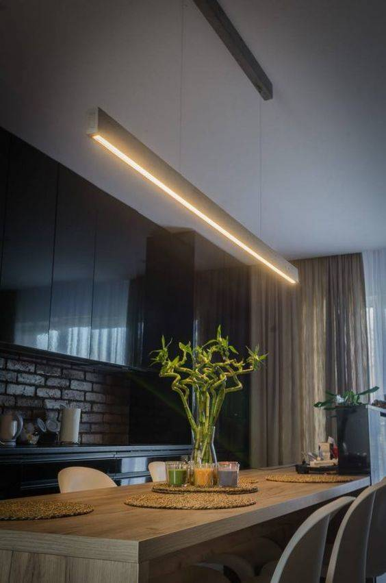 A Linear Direction - Dining Room Lighting Fixture Ideas