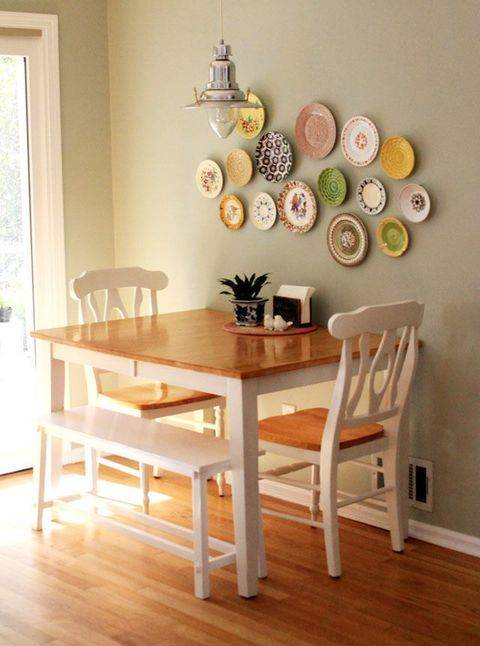 A Variety of Plates - Dining Room Wall Ideas