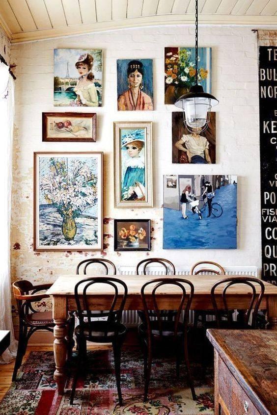 A Gallery of Art - Dining Room Wall Decor Ideas