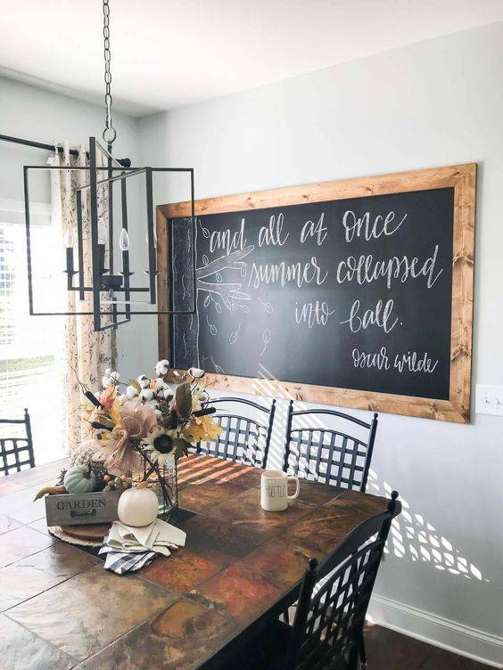 A Framed Chalkboard - Leave Messages or Drawings