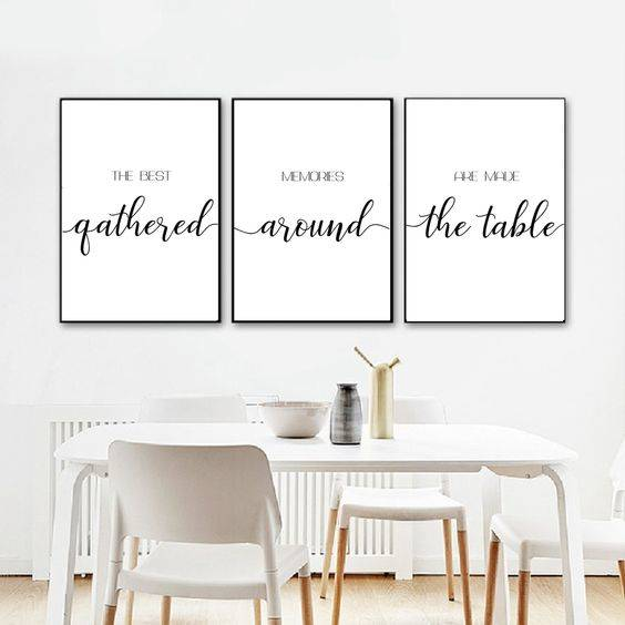 A Few Messages - Dining Room Wall Ideas