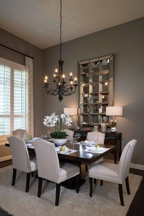 A Unique Mirror - Dining Room Wall Ideas