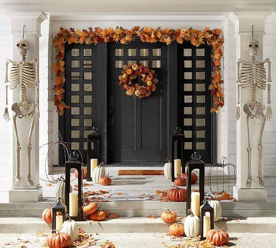 Scary with Skeletons - Fall Porch Decorations