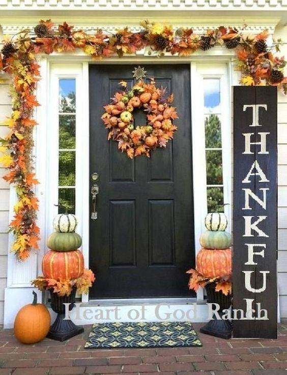 Time for Gratitude - Front Porch Fall Decorating Ideas