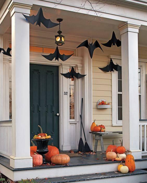 A Cloud of Bats - Fall Porch Ideas for Halloween