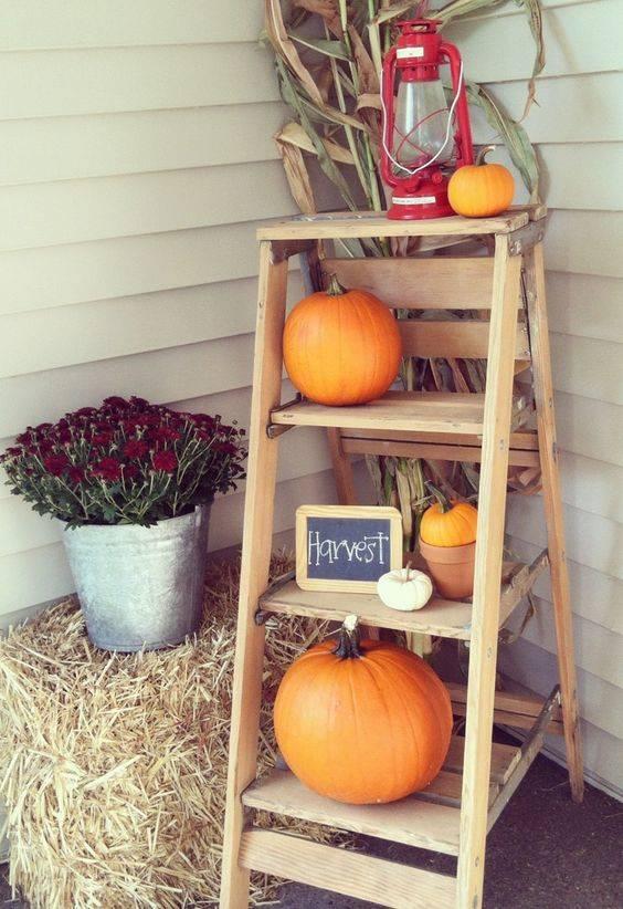 A Happy Harvest - A Ladder Arrangement
