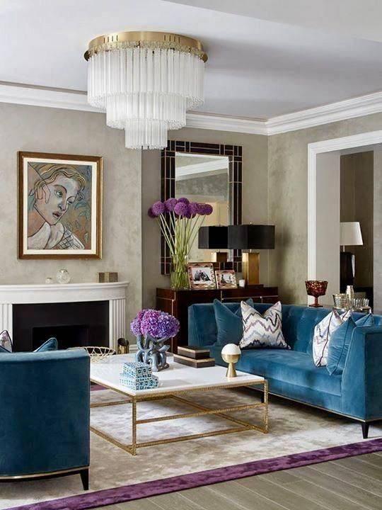 An Art Deco Chandelier - Modern Chandeliers for Living Room